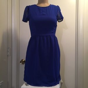 Delias royal blue dress with pockets size 3